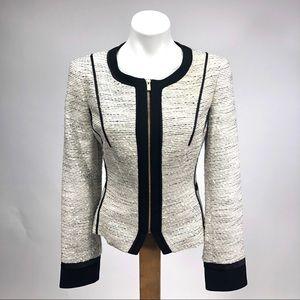 Calvin Klein work career tweed blazer jacket